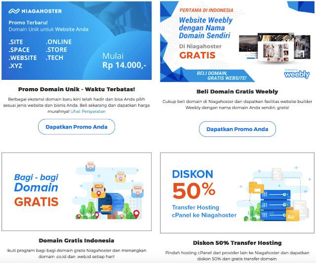 Promo spesial web hosting Niagahoster