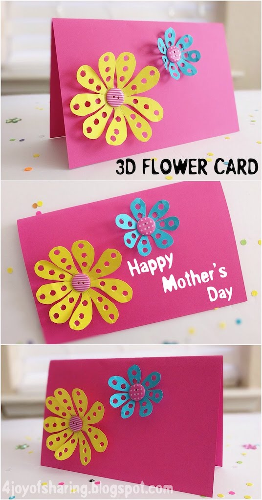 DIY Card, DIY, DIY Mother's Day Card, Kids craft, crafts for kids, craft ideas, kids crafts, craft ideas for kids, paper craft, art projects for kids, easy crafts for kids, fun craft for kids, kids arts and crafts, art activities for kids, kids projects, art and crafts ideas, toddler crafts, toddler fun, preschool craft ideas, kindergarten crafts, crafts for young kids, school crafts, mothers day craft, mother day craft, mothers day craft for kids, mother's day project, mother's day craft ideas, Card Idea for Mother's Day, Mother's Day Card, Mother's Day flower Card, Flower Card, Card for kids, Paper Card, Easy Card