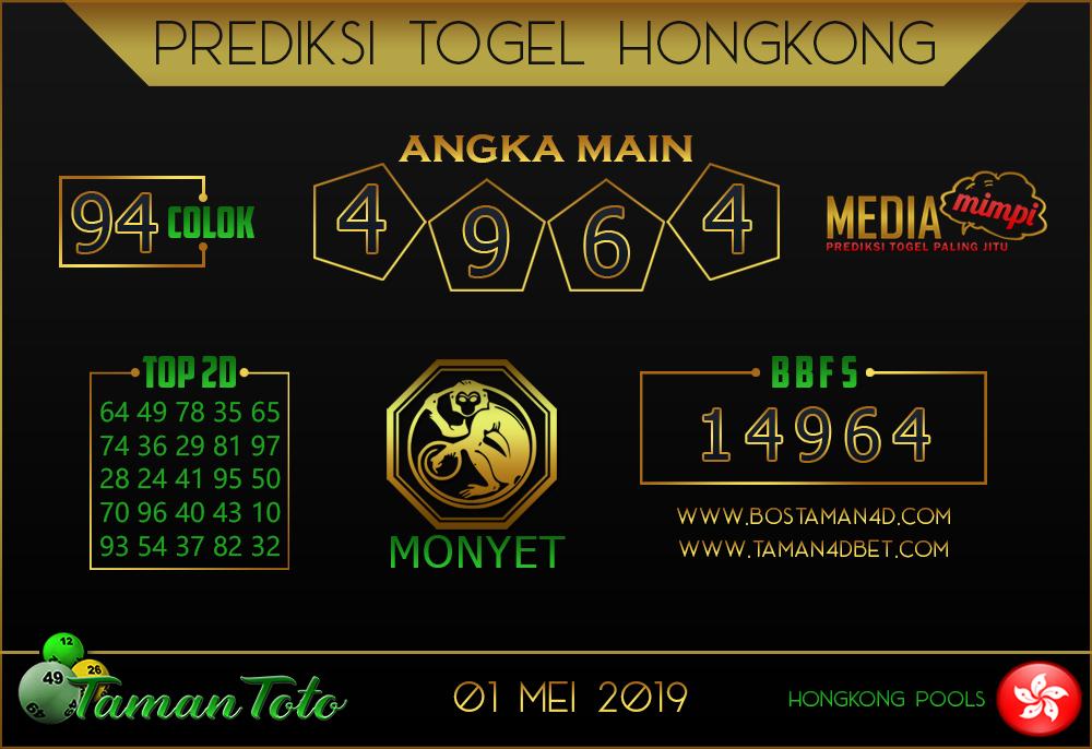 Prediksi Togel HONGKONG TAMAN TOTO 01 MEI 2019