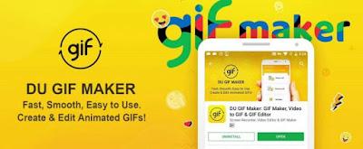 تطبيق DU GIF Maker لتصميم الصور المتحركة من الفيديوهات للأندرويد أخر أصدار 2018