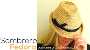 Cómo tejer Sombrero Fedora Unisex / Tutorial crochet