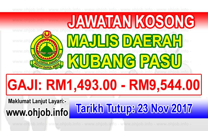Jawatan Kerja Kosong MDKP - Majlis Daerah Kubang Pasu logo www.ohjob.info november 2017