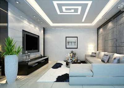 spiral POP ceiling design - false ceiling designs for living room