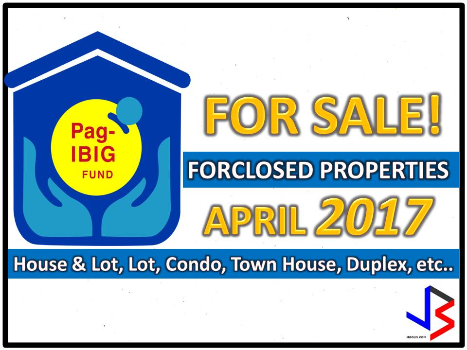 Hundreds of acquired assets of properties of Pag-IBIG Fund will be auctioned this April 2017. Six Pag-IBIG branches nationwide will be participating in the public auctions. These includes National Capital Region, Cebu, Davao, Zamboanga, Pagadian City, and Tuguegarao.   If you are looking for properties to buy such as lot, house and lot, townhouse, duplex, Quadro-duplex, row houses, and many others, this is your opportunity to own.