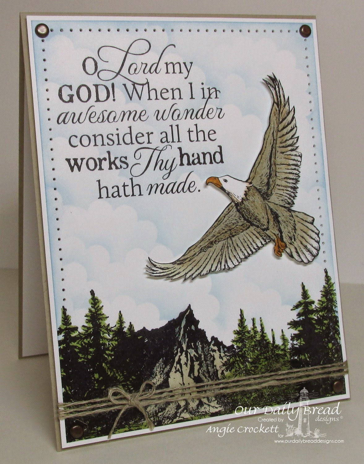 ODBD How Great Thou Art, ODBD On Eagles' Wings, ODBD Keep Climbing, Card Designer Angie Crockett