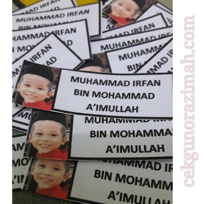 Irfan, diy name tag, diy projek