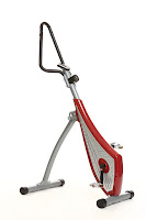 Vertical Spin Trainer VST, cross between a stepper, elliptical and cycle for an effective workout that burns more calories than cycling seated