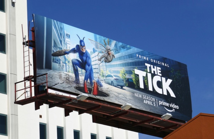 Tick season 2 Prime billboard