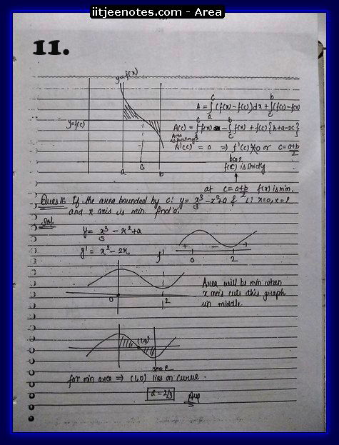 area under curve notes4