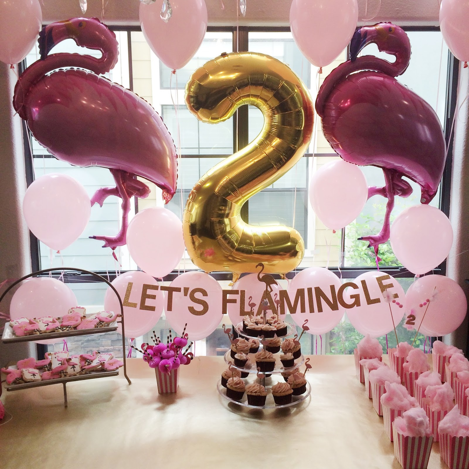 Harper's Second Birthday Party: Let's Flamingle
