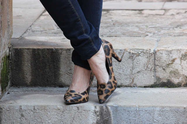 zapatos leopardo tacon medio d´angela