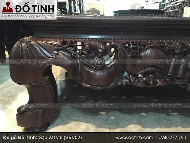 Sập vắt vải (SVV02) - Mẫu sập gụ đẹp nhất