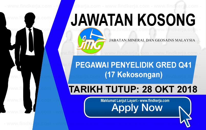 Jawatan Kerja Kosong JMG - Jabatan Mineral dan Geosains Malaysia logo www.ohjob.info www.findkerja.com oktober 2018