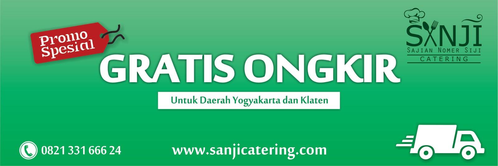 gratis ongkir sanji catering