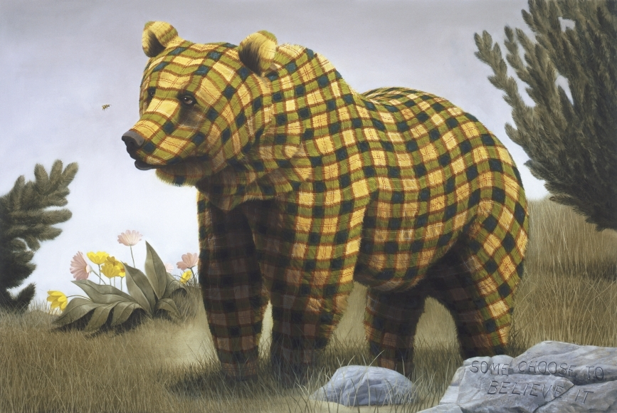02-Some-Choose-to-Believe-It-Sean-Landers-Paintings-of-Animals-that-Swap-their-Fur-for-Tartan-Coats-www-designstack-co