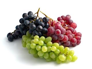 Uvas roxas e verdes