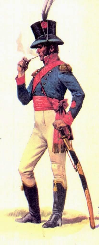 Oficial del Regimiento de Patricios, por José Luis Salinas