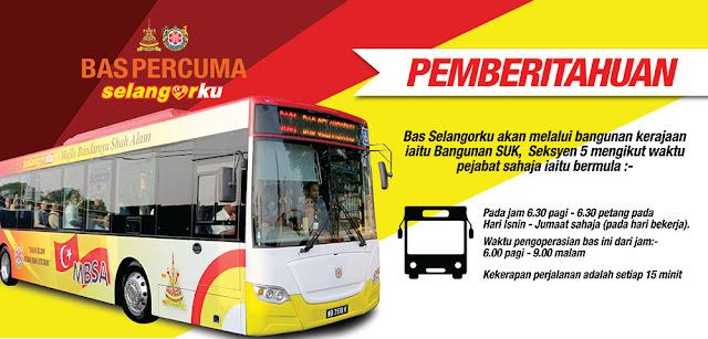 Bas Percuma Selangorku Free Bus Services Operation Hour