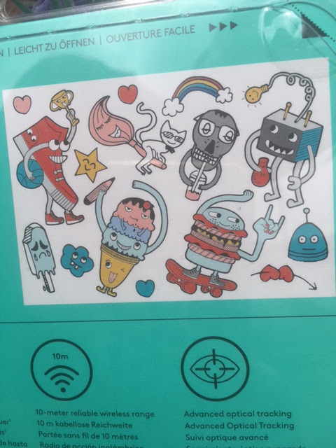 stickers for wireless mouse Logitech Doodle collection #review
