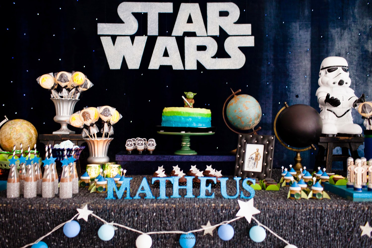 Adriana gaspar e marcela castro festa star wars for Decoracion star wars