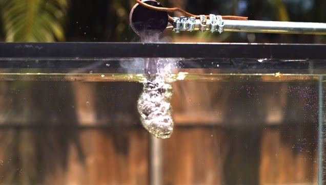 Physical reaction of molten salt and water