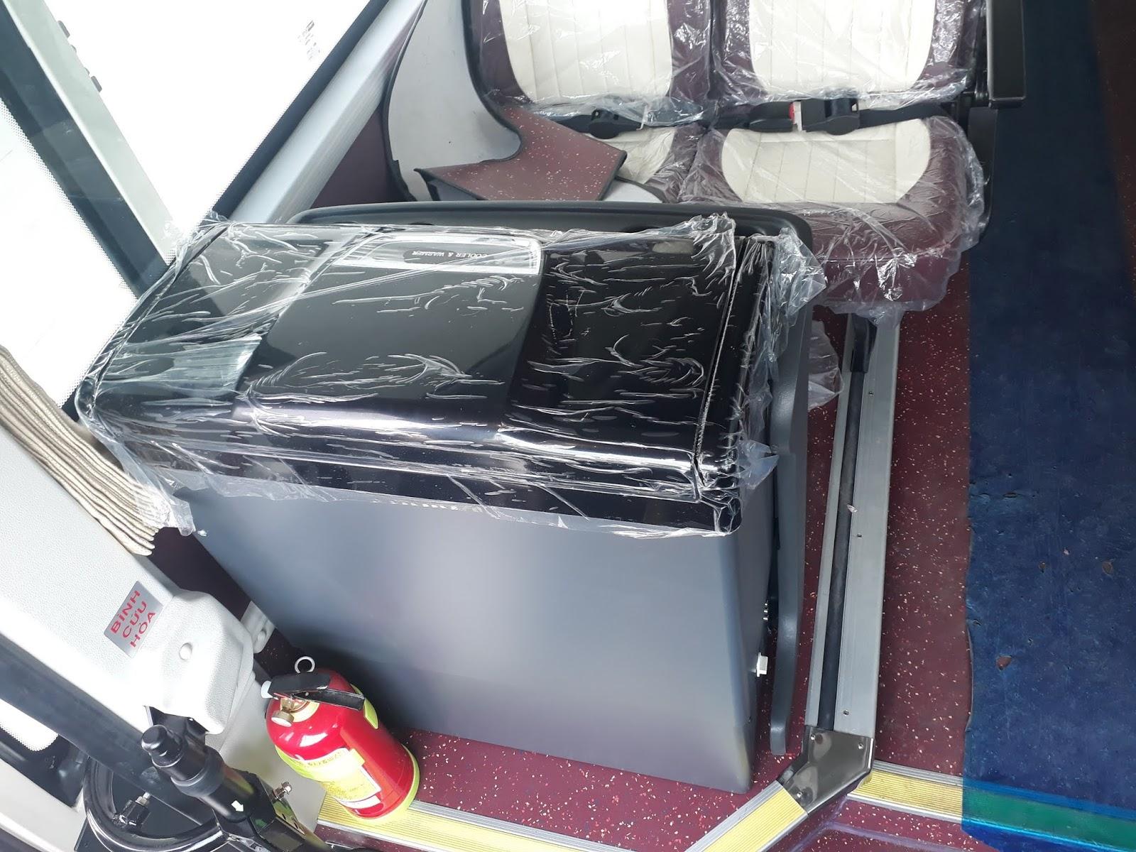 Tủ lạnh trên xe ô tô khách 29 chỗ tại Hải Phòng