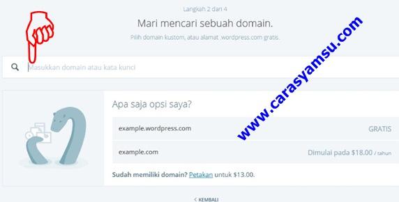 Cara Membuat Domain Website di Wordpress