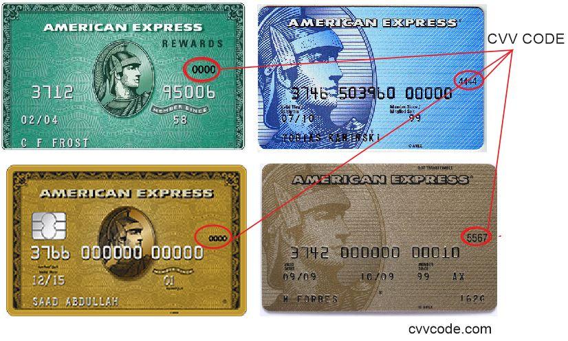 Find Credit Card CVV Code or CVV Number, CVV7 and CVC code on Amex