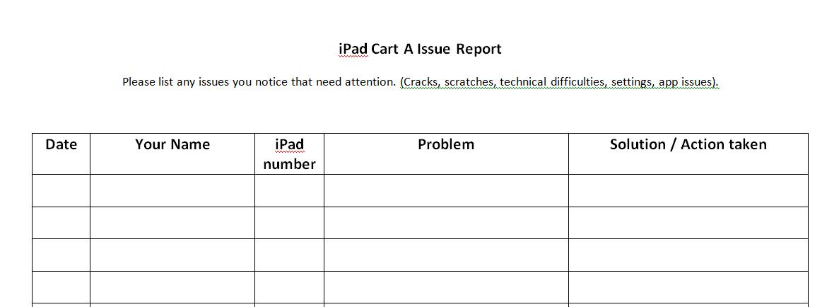 check it out! School iPad Checkout Forms