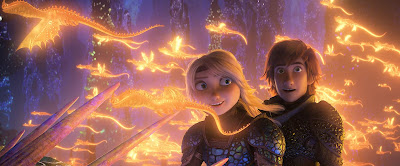 Astrid and Hiccup in the hidden world How to Train Your Dragon 3 2019 movie