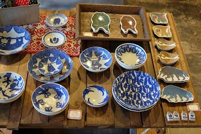 東京つつじヶ丘のオリジナルの染布制作 kata kata 印判手皿