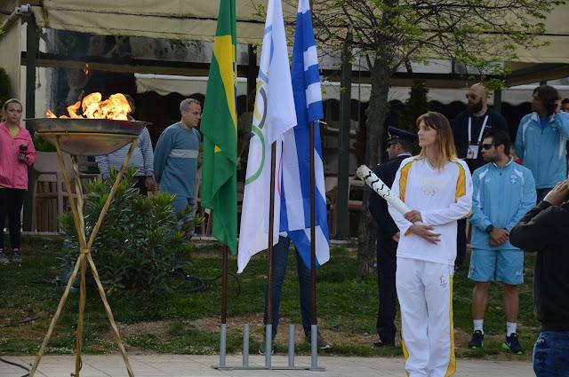 H Oλυμπιακή Φλόγα στην Ηγουμενίτσα (ΒΙΝΤΕΟ)