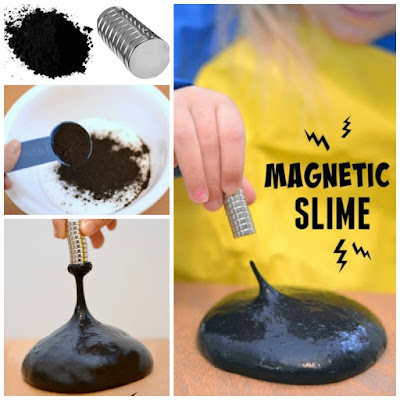 Homemade Magnetic Slime- TOO COOL! This stuff takes minutes to make & is a sure way to WOW the kids!