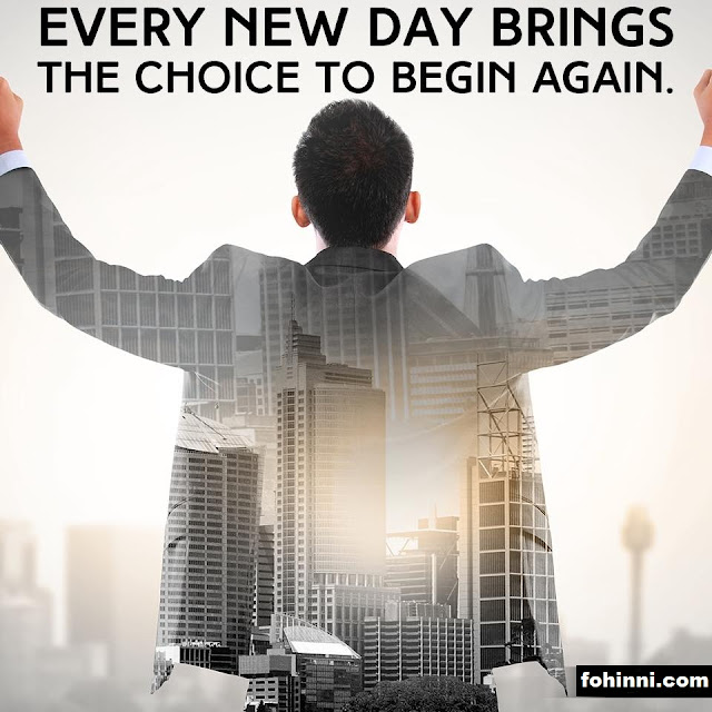 Every New Day Brings The Choice
