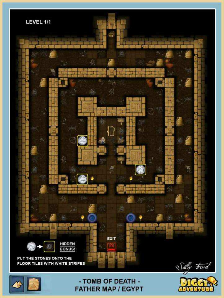 Diggy's Adventure Walkthrough: Egypt Father Quest / Tomb of Death