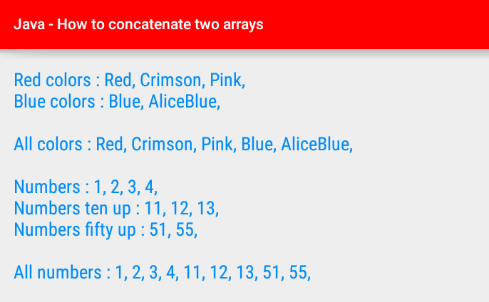 android java - How to concatenate two arrays