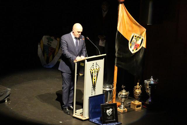 Orlando Sáiz en el acto de apertura de la celebración del centenario del club