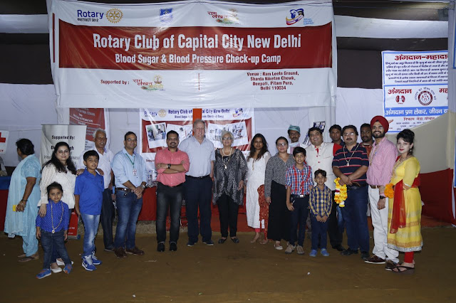 Rotary Club of Capital City New Delhi's Health Camp till Navratri