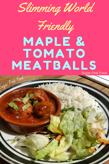 Slow Cooker Beef Meatballs in Tomato & Maple Sauce