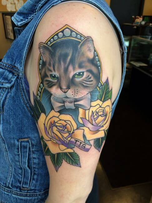 traditional Cat Tattoos