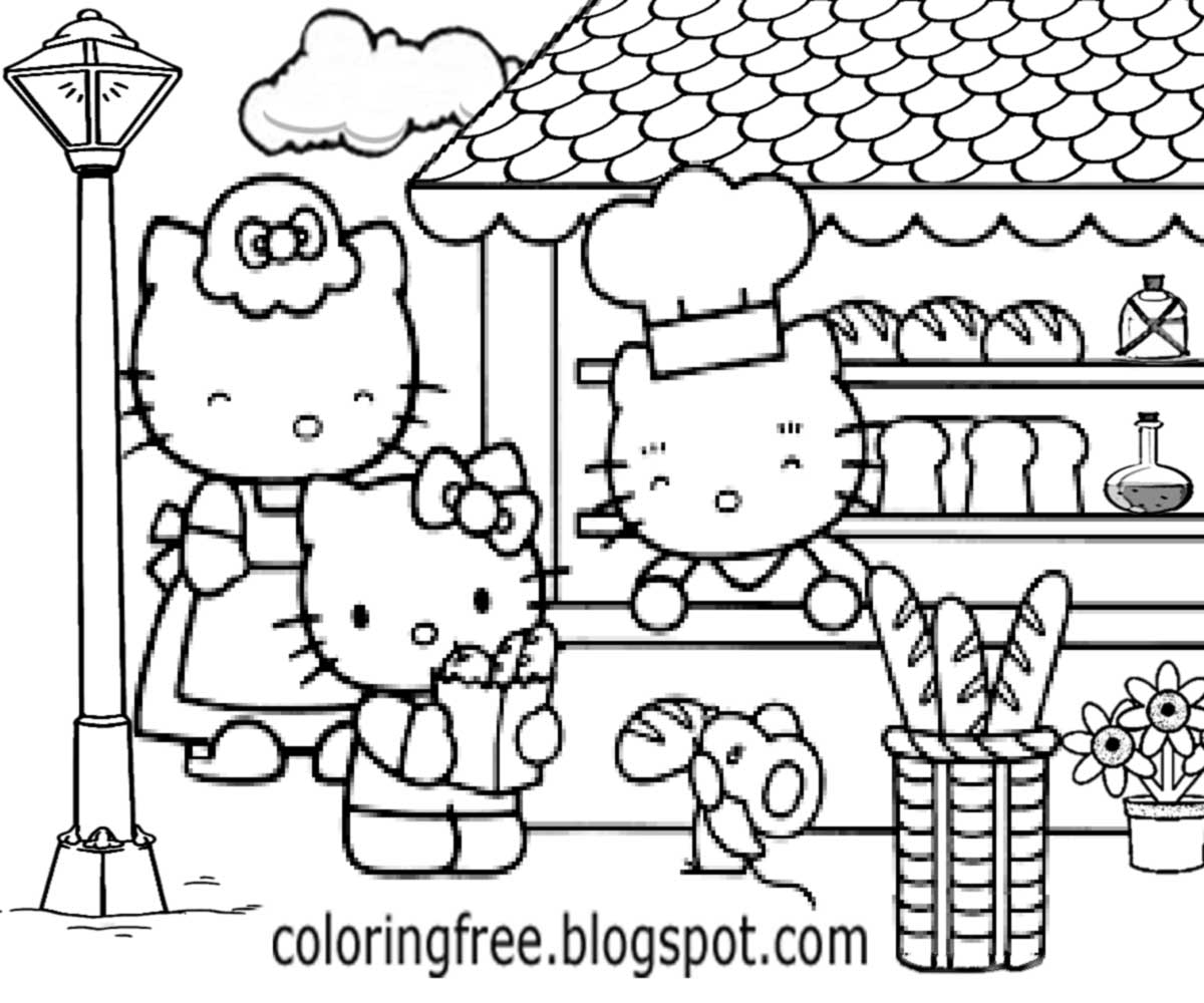 Free coloring pages printable pictures to color kids for Hello kitty coloring pages print