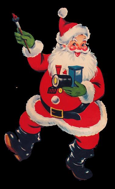 Vintage Santa Christmas Clip Art