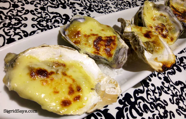 Italia Restaurant based oysters - Bacolod restaurant