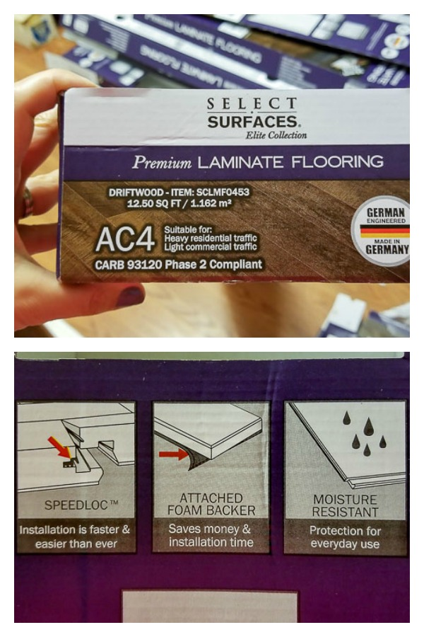 Select Surfaces laminate floor from Sam's Club