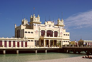 The extravagant Liberty-style Antico Stabilimento Balneare di Mondello is a reminder of the resort's golden age