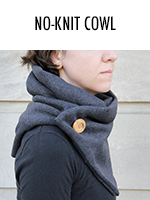 DIY knit-inspired cozy cowl