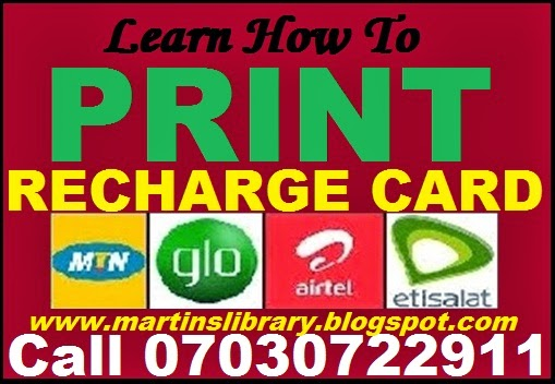 RECHARGE CARD PRINTING BUSINESS - CLICK HERE