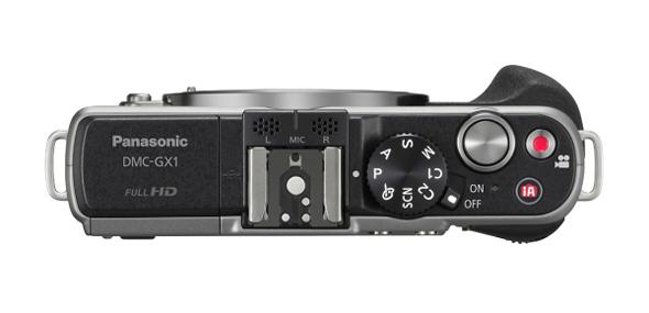La Panasonic GX1 fotografata dall'alto