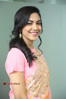 Actress Ritu Varma Pos in Beautiful Pink Anarkali Dress at at Keshava Movie Interview .COM 0133.JPG