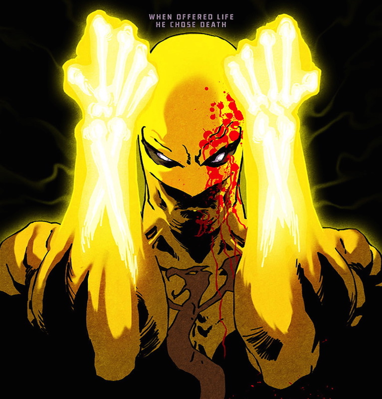 Iron Fist: The Living Weapon #1, cover by Kaare Andrews.